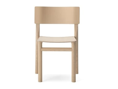Open back stackable wooden chair BLUE | Chair