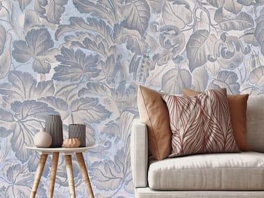 Papel de parede adesivo lavável estável aos raios UV de tecido estilo moderno BLUE FLANDRE