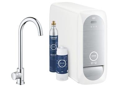 Sistema di trattamento dell'acqua GROHE BLUE® HOME | Rubinetto da cucina in ottone cromato