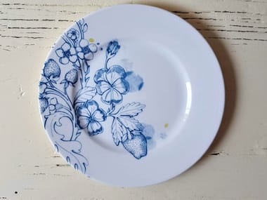 """Porcelain dessert plate BLUE SUMMER DESSERT PLATE """"A"""""""