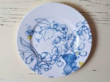"""Porcelain dessert plate BLUE SUMMER DESSERT PLATE """"B"""""""