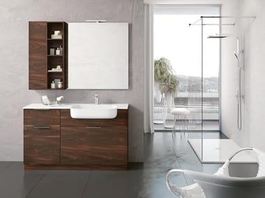 Floor-standing vanity unit with mirror BLUES 07