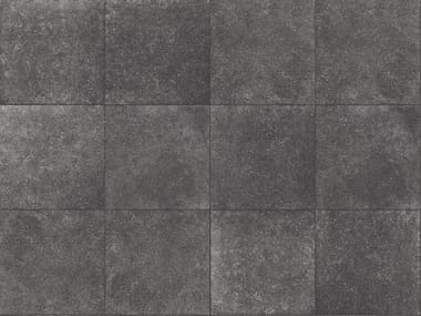 Porcelain stoneware outdoor floor tiles with stone effect BLUESTONE DARK 3 CM