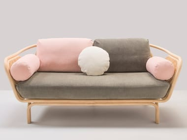 Sofá tapizado 2 plazas en rattan con funda extraíble BÔA CALM