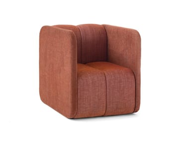 Fabric easy chair with armrests BOB JOB | Easy chair