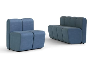 Modular fabric bench seating BOBBY | Bench seating