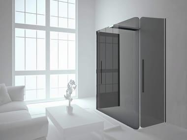 Rectangular shower cabin with hinged door BOBOX C+AB