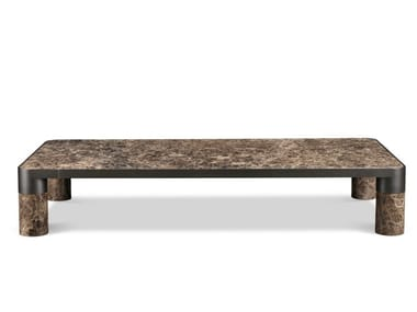 Low rectangular marble coffee table BOLD | Coffee table