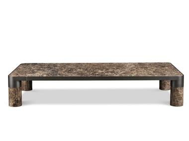 Tavolino basso rettangolare in marmo BOLD | Tavolino