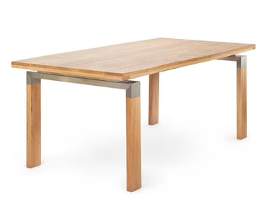 Rectangular solid wood dining table BOLE