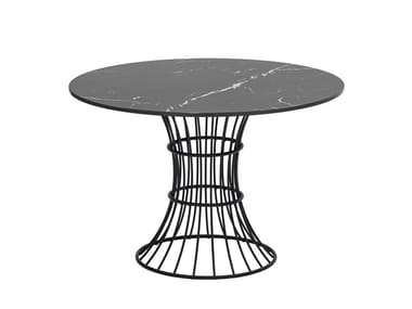 Galvanized steel high side table BOLONIA | Garden side table