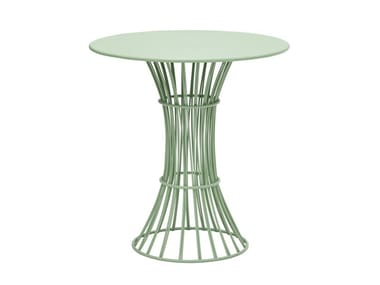 Round galvanized steel garden table BOLONIA | Garden table