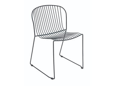 Sled base steel chair BOLONIA | Sled base chair