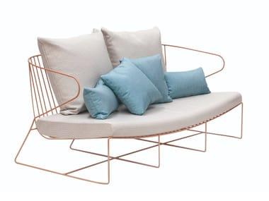 2 seater steel sofa BOLONIA | Sofa