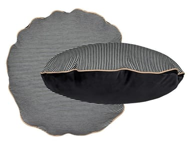 Striped round cotton cushion BOMBOLONI | Striped cushion