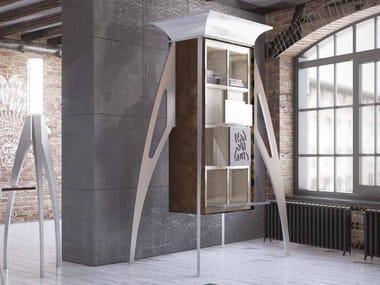 Libreria a giorno in alluminio e legno I DIFETTI PREZIOSI | Libreria