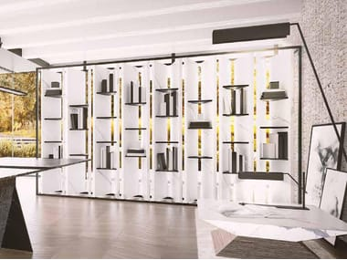 Open double-sided divider bookcase METROPOLITAN | Bookcase