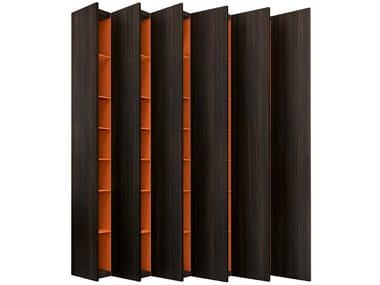 Wall-mounted oak bookcase ALEPH   Oak bookcase