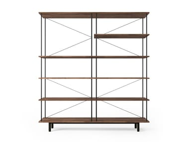 Open sectional steel and wood bookcase SEITON | Bookcase