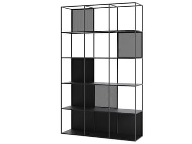 Open powder coated steel bookcase MOTIVO | Bookcase