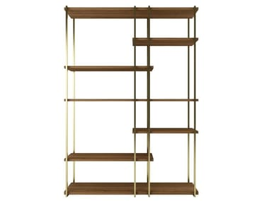 Open double-sided steel and wood bookcase ZULU   Bookcase