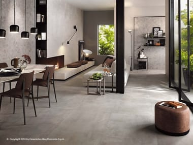 Porcelain stoneware flooring with concrete effect BOOST | Flooring