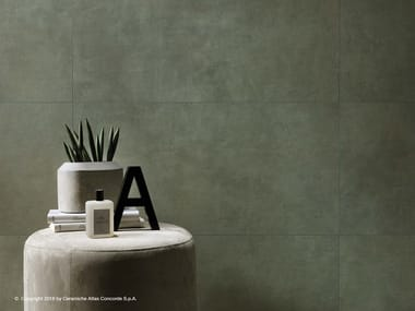 White-paste wall tiles with concrete effect BOOST | Wall tiles