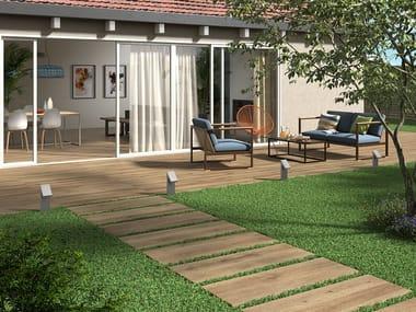 Indoor/outdoor porcelain stoneware wall/floor tiles with wood effect BOREALIS ABISKO