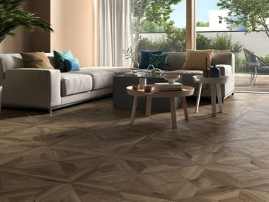 Indoor/outdoor porcelain stoneware wall/floor tiles with wood effect BOREALIS DONEGAL