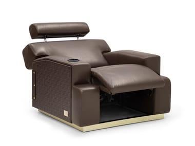 Recliner relaxing Deerskin armchair BOURBON