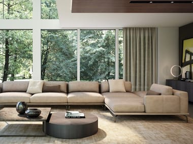 Sectional leather sofa BOVISA | Leather sofa