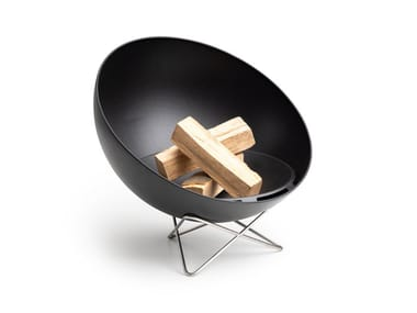 Steel barbecue / fire baskets BOWL WITH WIREBASE