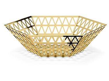 Vasilha / Centro de mesa de aço inox TIP TOP | Conjunto de vasilha
