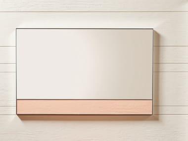 Rectangular framed Akron© mirror BOX | Mirror