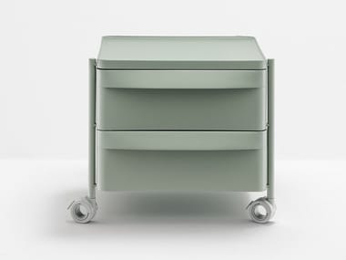Polypropylene office drawer unit with castors BOXIE BXL 2C