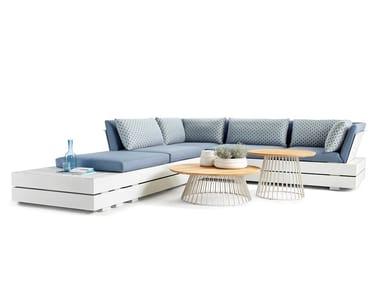 Corner sectional fabric garden sofa BOXX LOUNGE | Sectional garden sofa