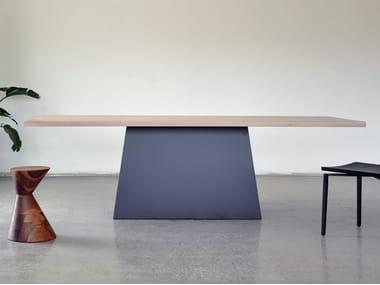 Rectangular solid wood table BRACKTON