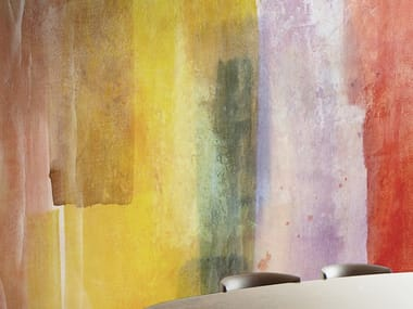 Multicolor wallpaper, eco-friendly, PVC free and washable BRADLEY