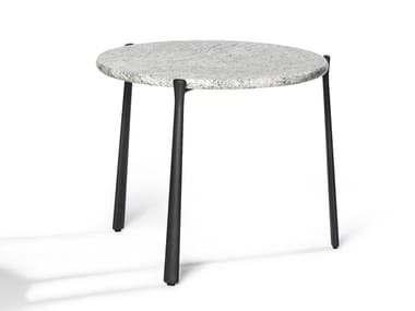 Round granite garden side table BRANCH | Round coffee table