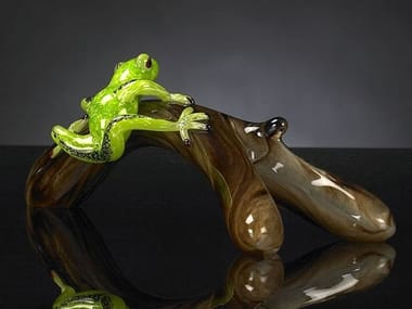 Glass decorative object BRANCH WITH FROG
