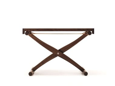 Low rectangular solid wood coffee table BRANDINO | Low coffee table