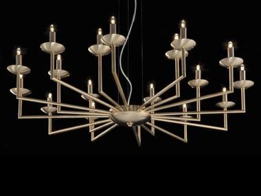 Lampadario a LED in ottone METROPOLITAN | Lampadario in ottone