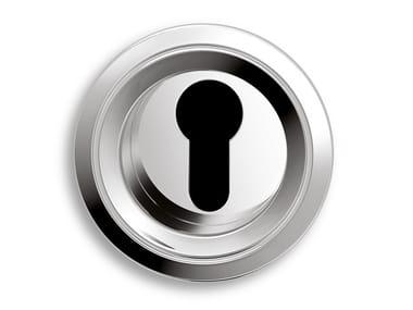 Round brass keyhole escutcheon TWIN | Metal keyhole escutcheon