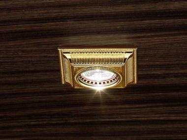 Ceiling semi-inset brass spotlight BRASS & SPOTS VE 855