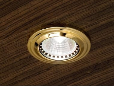 Ceiling semi-inset brass spotlight BRASS & SPOTS VE 865