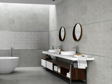Beton Wandverkleidung wandverkleidung aus weißscherbige keramik mit beton effekt bricket