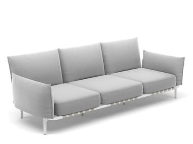 Canapé 3 places en tissu avec revêtement amovible BREA | Canapé 3 places