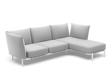 3 seater fabric sofa with removable cover with chaise longue BREA | Sofa with chaise longue
