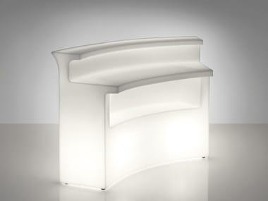 Bancone bar illuminato in polietilene per esterni BREAK BAR
