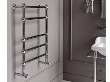 Chrome wall-mounted towel warmer BRENT 3